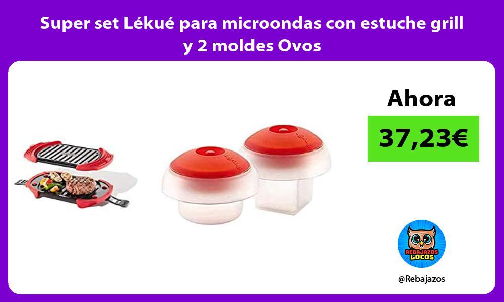 Super set Lekue para microondas con estuche grill y 2 moldes Ovos