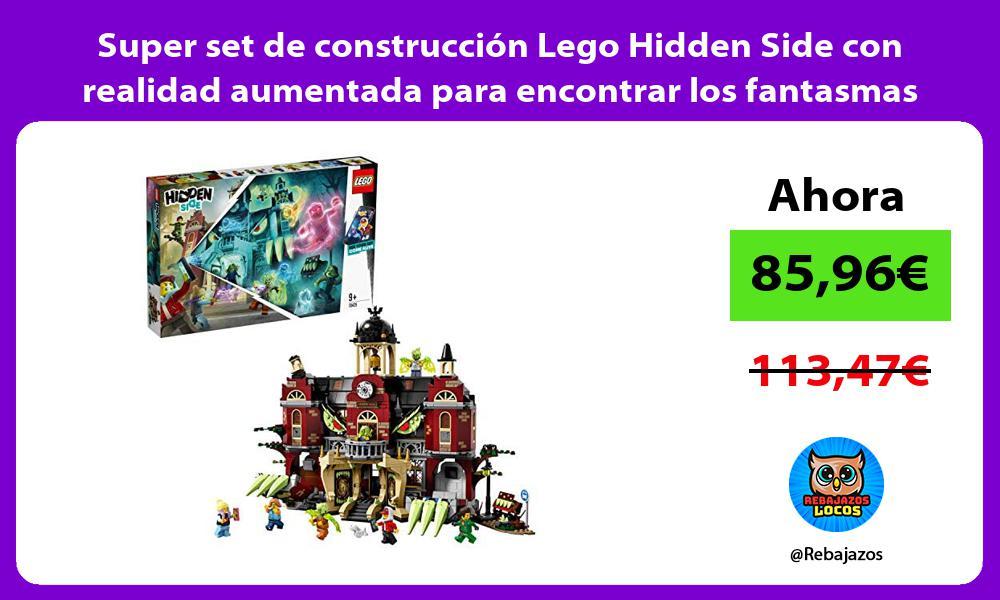 Super set de construccion Lego Hidden Side con realidad aumentada para encontrar los fantasmas