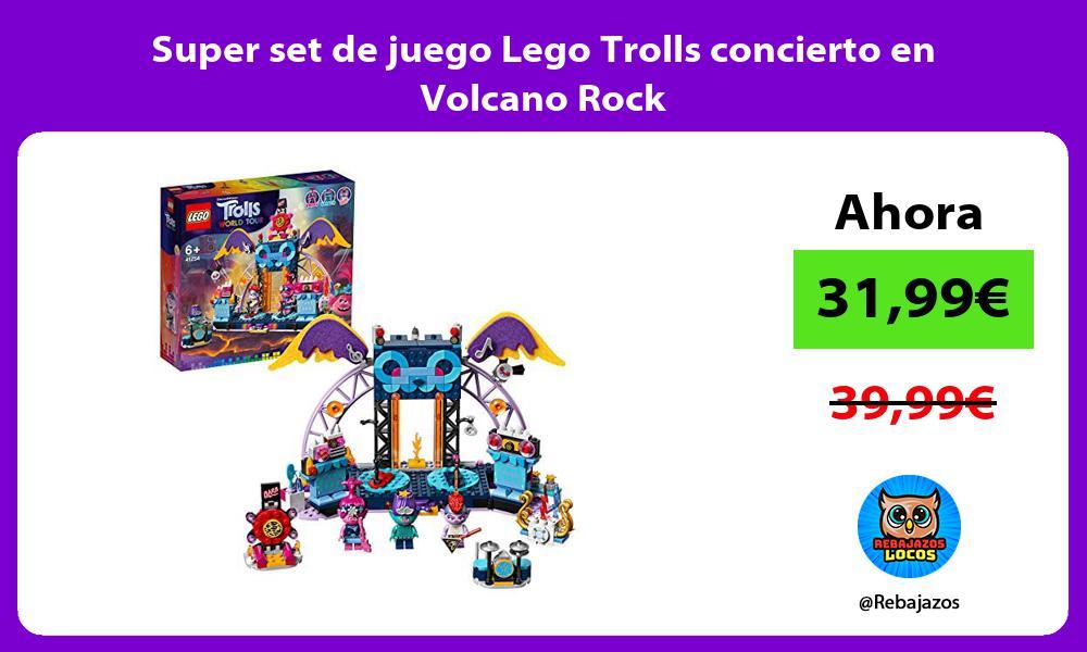 Super set de juego Lego Trolls concierto en Volcano Rock