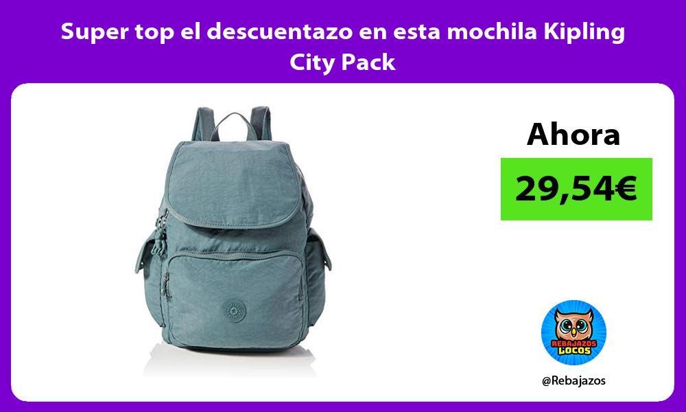 Super top el descuentazo en esta mochila Kipling City Pack