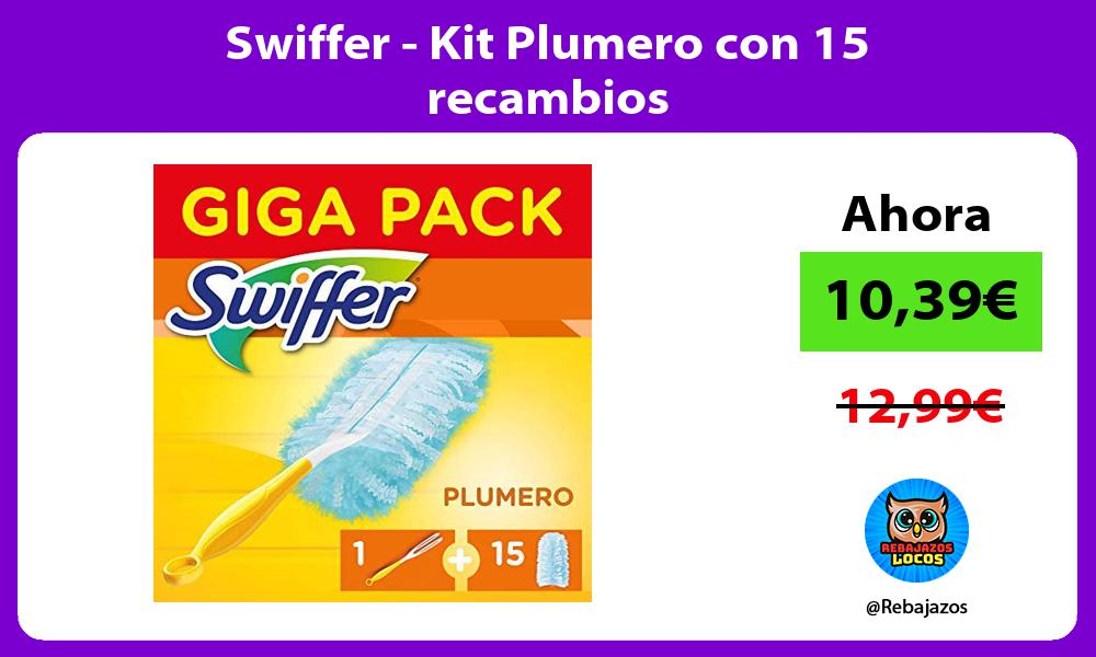 Swiffer Kit Plumero con 15 recambios