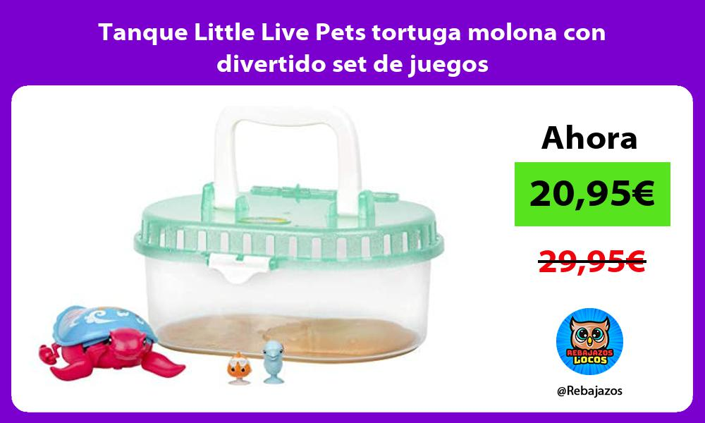 Tanque Little Live Pets tortuga molona con divertido set de juegos