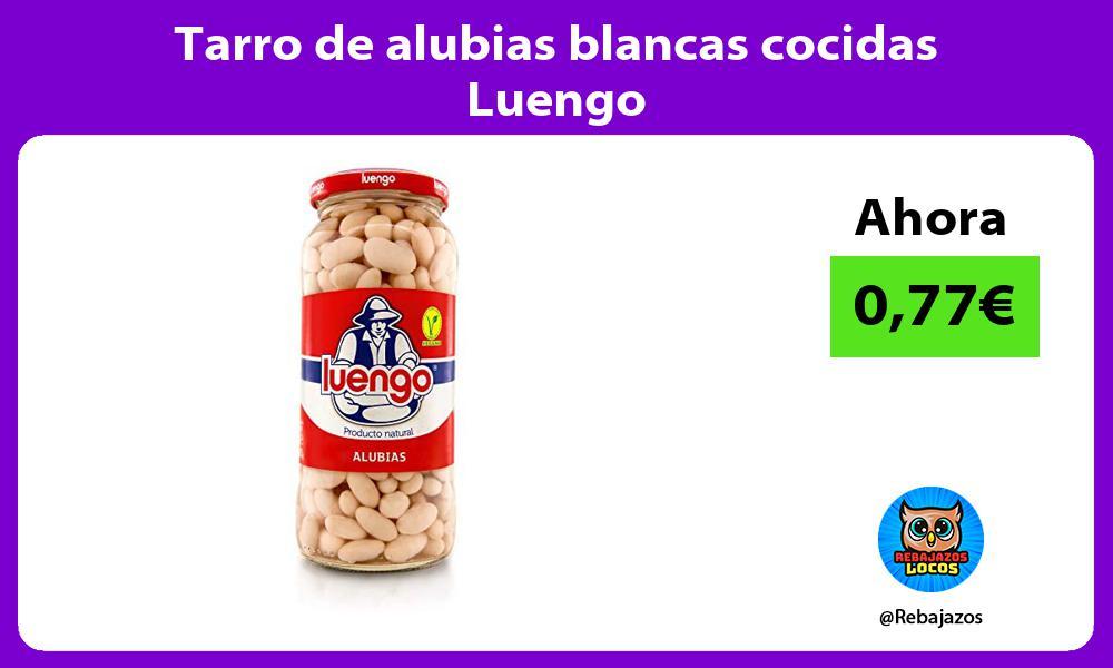 Tarro de alubias blancas cocidas Luengo