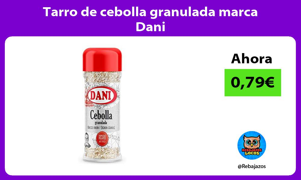 Tarro de cebolla granulada marca Dani