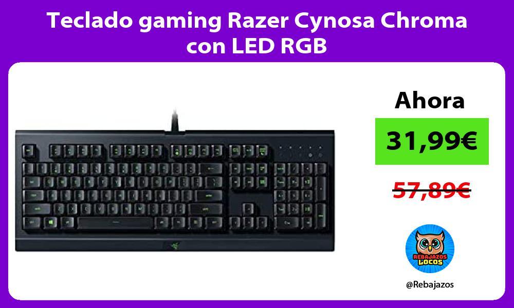 Teclado gaming Razer Cynosa Chroma con LED RGB