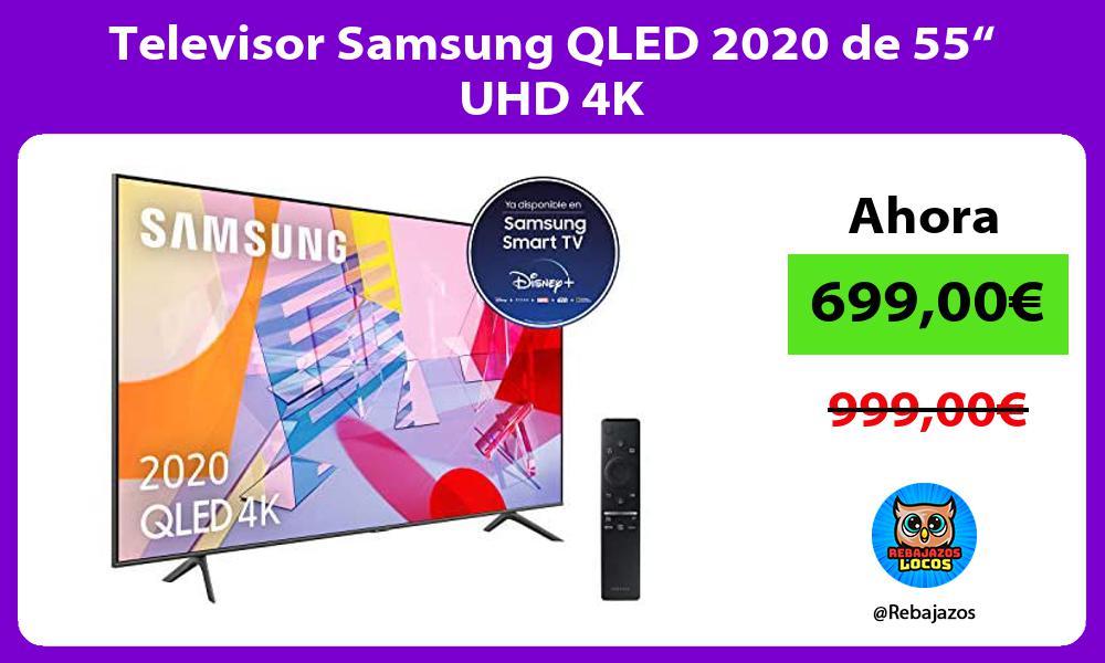 Televisor Samsung QLED 2020 de 55 UHD 4K