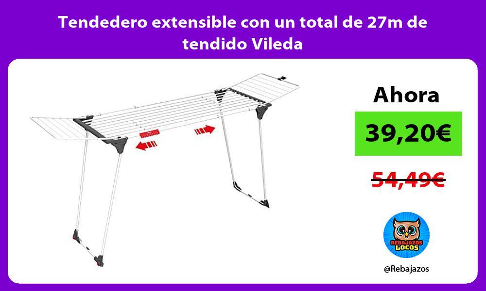 Tendedero extensible con un total de 27m de tendido Vileda