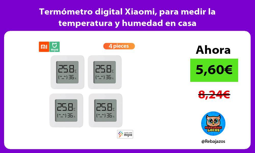 Termometro digital Xiaomi para medir la temperatura y humedad en casa