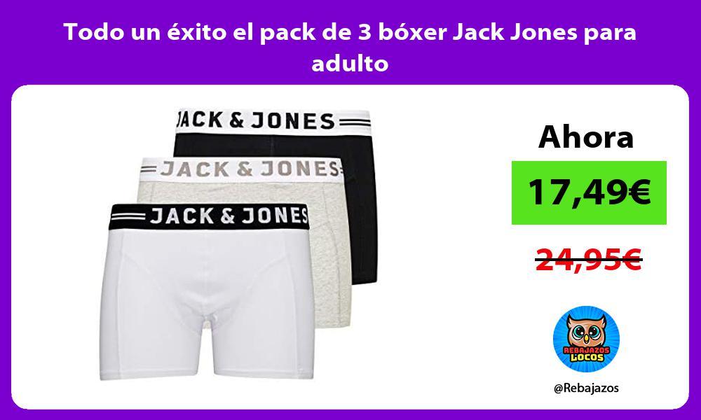 Todo un exito el pack de 3 boxer Jack Jones para adulto