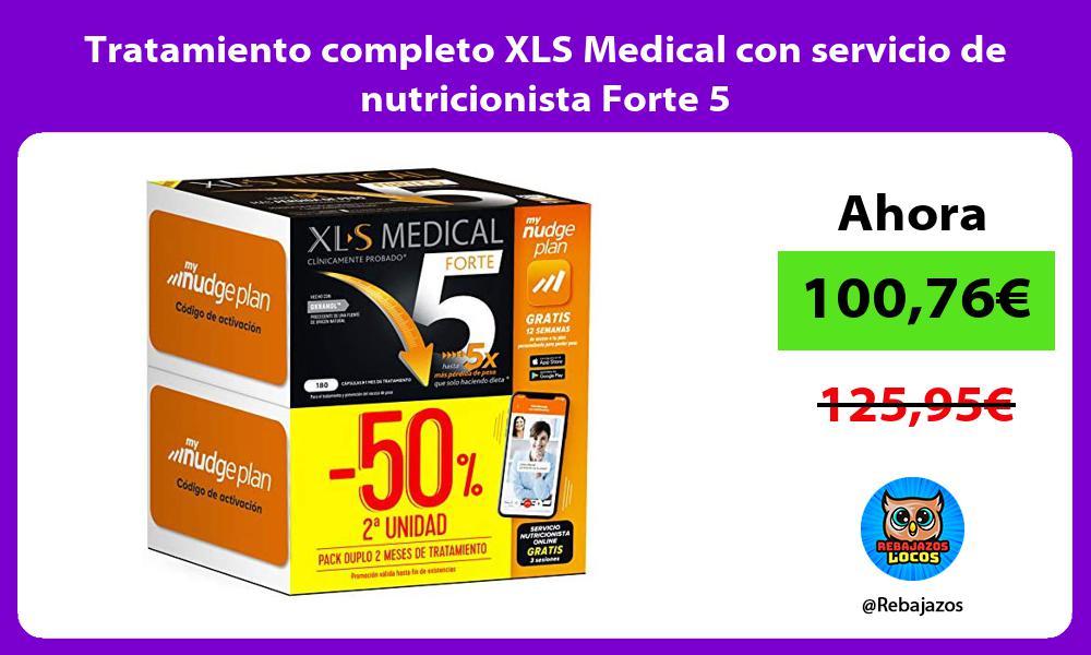 Tratamiento completo XLS Medical con servicio de nutricionista Forte 5