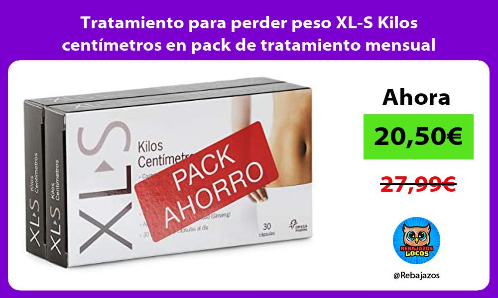 Tratamiento para perder peso XL S Kilos centimetros en pack de tratamiento mensual