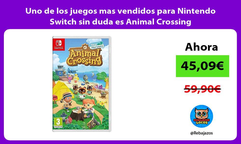Uno de los juegos mas vendidos para Nintendo Switch sin duda es Animal Crossing