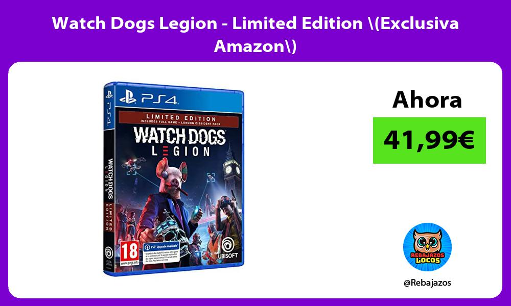 Watch Dogs Legion Limited Edition Exclusiva Amazon
