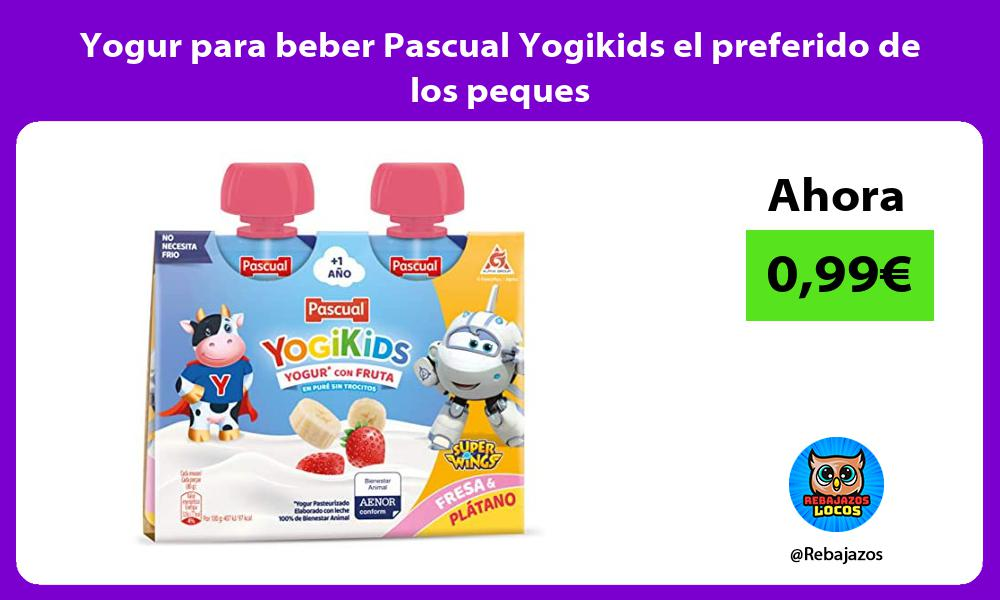 Yogur para beber Pascual Yogikids el preferido de los peques