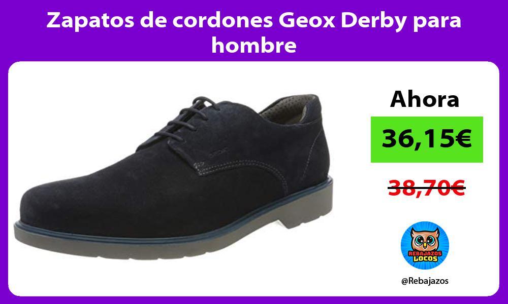 Zapatos de cordones Geox Derby para hombre
