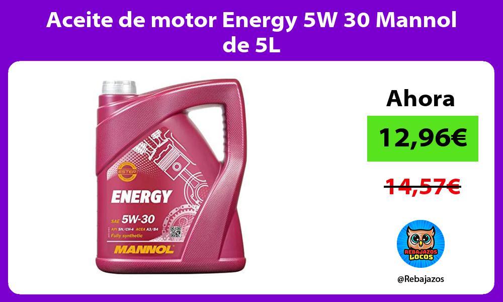 Aceite de motor Energy 5W 30 Mannol de 5L