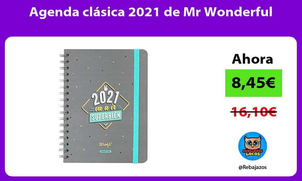 Agenda clasica 2021 de Mr Wonderful