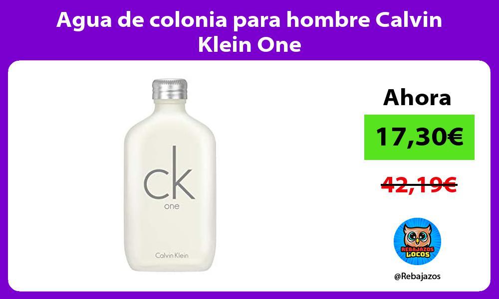 Agua de colonia para hombre Calvin Klein One