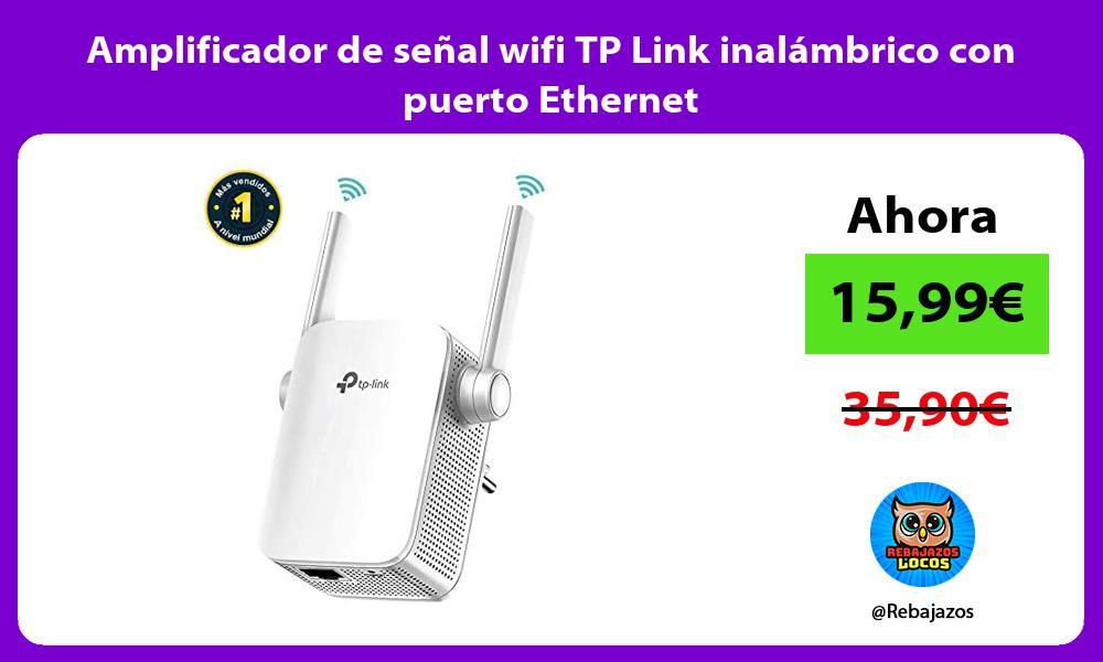 Amplificador de senal wifi TP Link inalambrico con puerto Ethernet