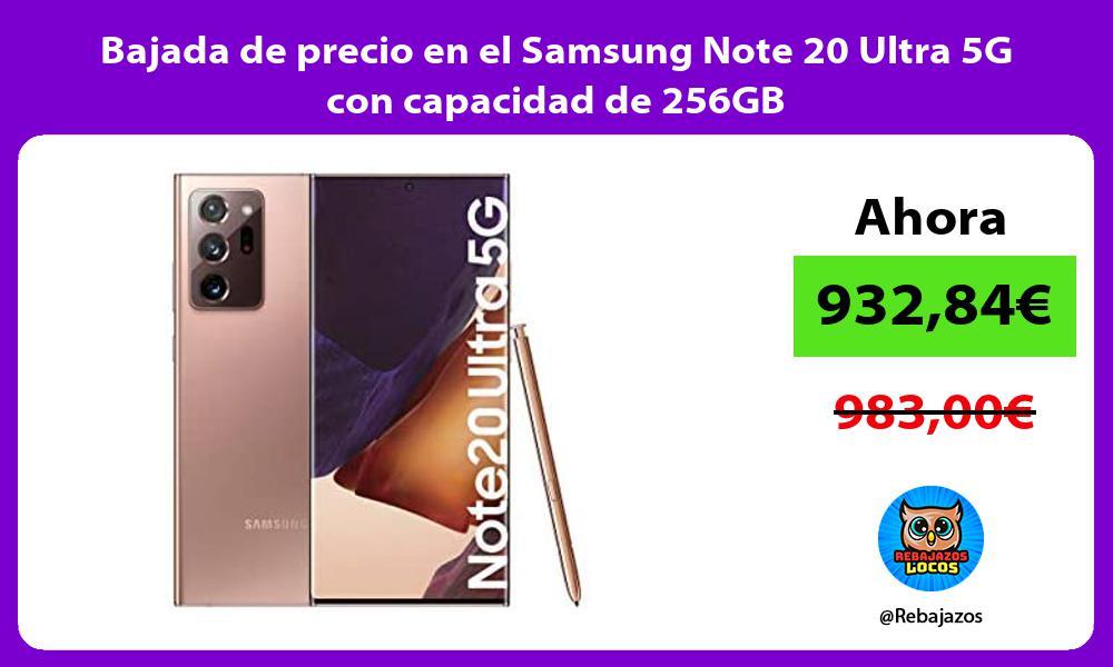 Bajada de precio en el Samsung Note 20 Ultra 5G con capacidad de 256GB