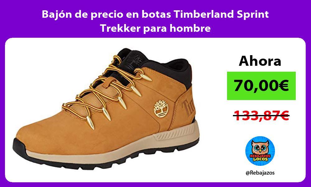 Bajon de precio en botas Timberland Sprint Trekker para hombre