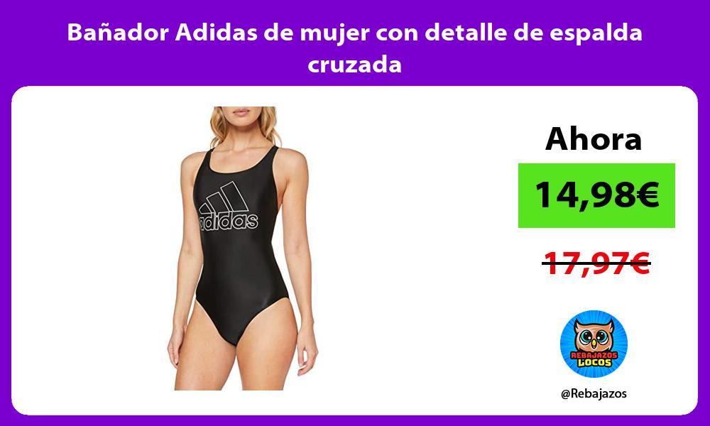 Banador Adidas de mujer con detalle de espalda cruzada
