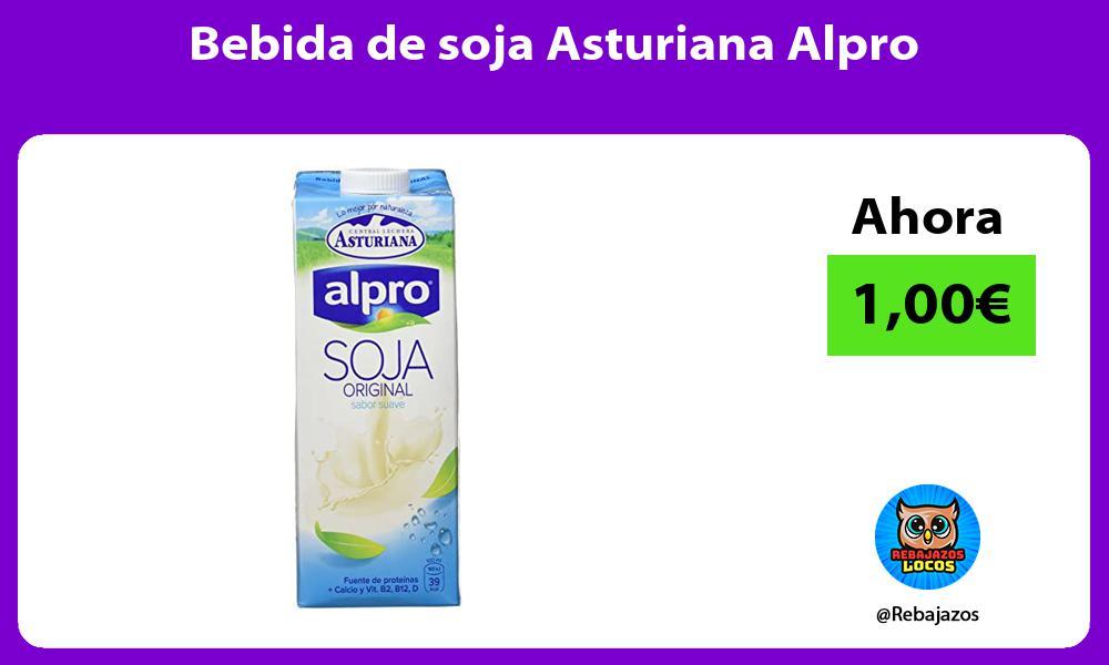 Bebida de soja Asturiana Alpro