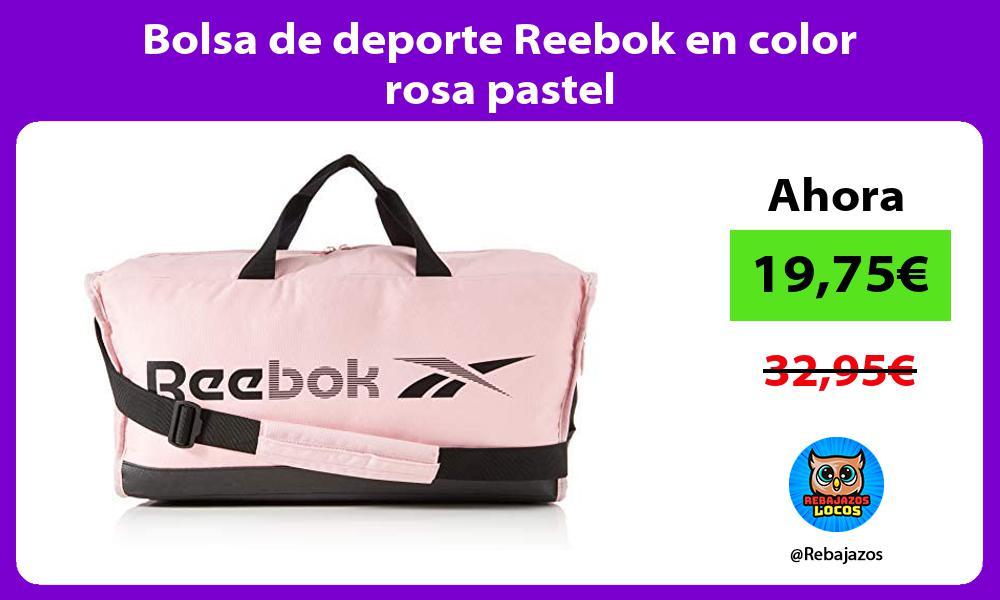 Bolsa de deporte Reebok en color rosa pastel