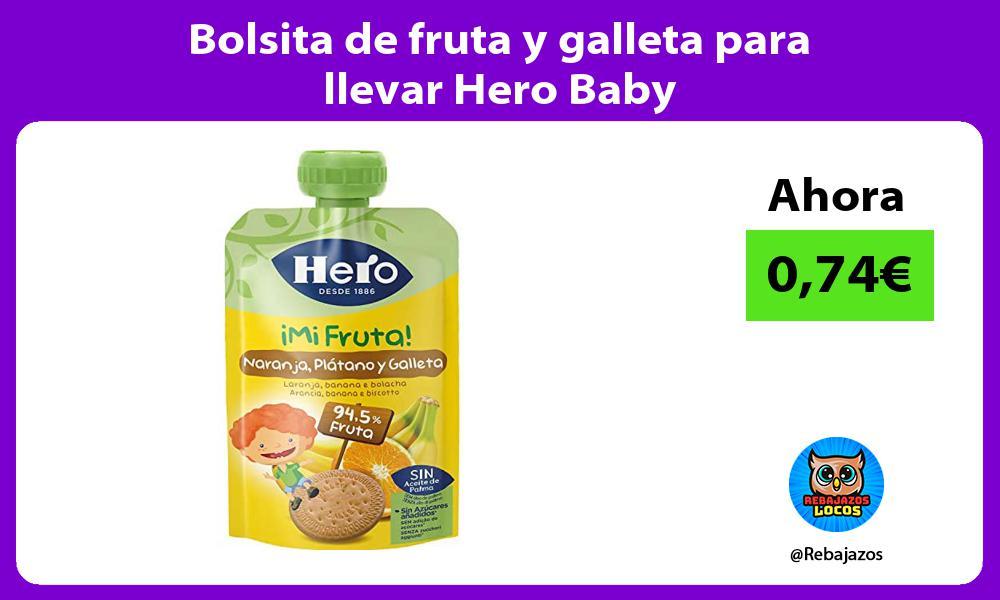 Bolsita de fruta y galleta para llevar Hero Baby