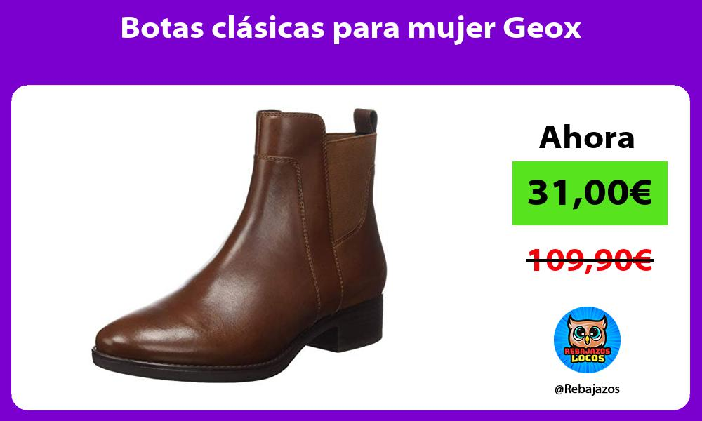 Botas clasicas para mujer Geox