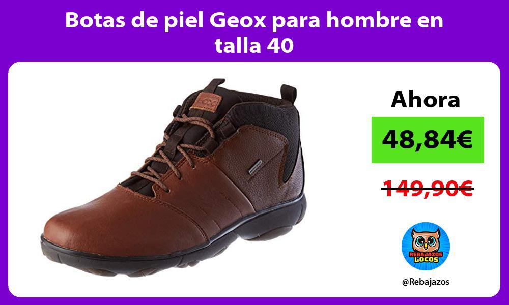 Botas de piel Geox para hombre en talla 40