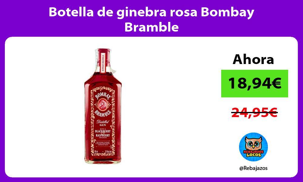 Botella de ginebra rosa Bombay Bramble