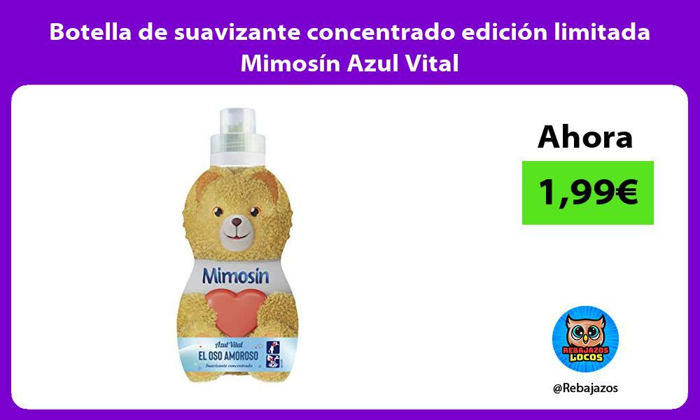 Botella de suavizante concentrado edicion limitada Mimosin Azul Vital