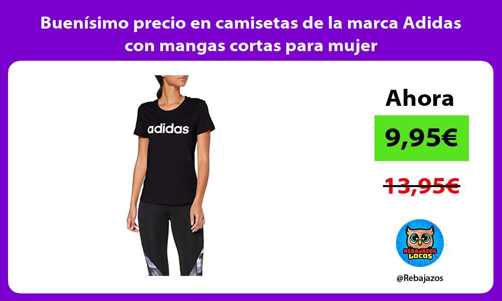 Buenisimo precio en camisetas de la marca Adidas con mangas cortas para mujer