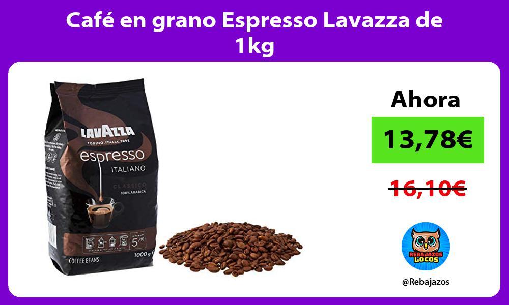 Cafe en grano Espresso Lavazza de 1kg