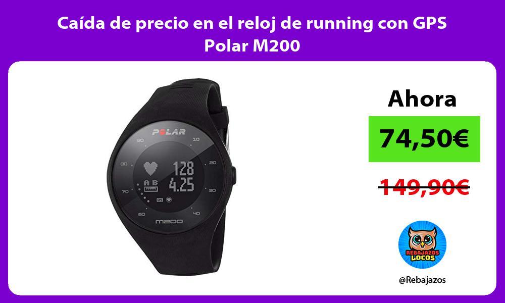 Caida de precio en el reloj de running con GPS Polar M200