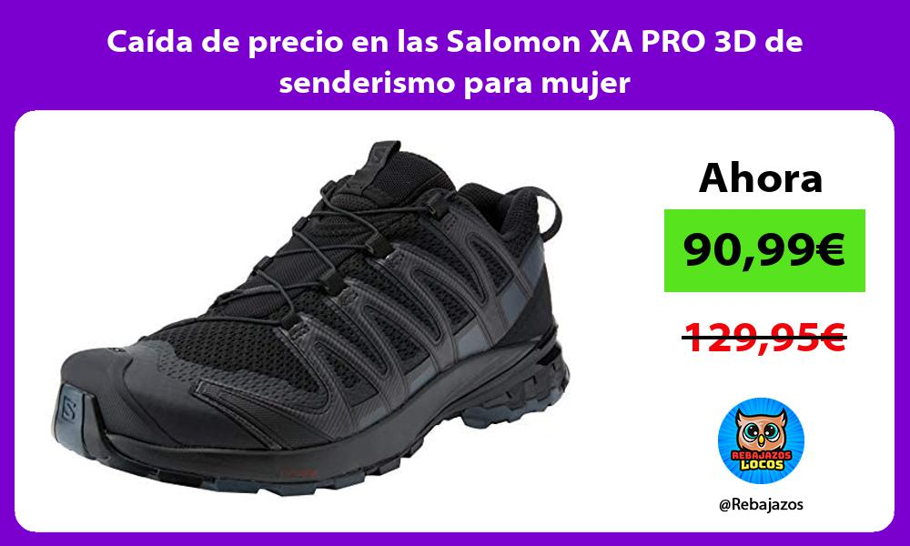 Caida de precio en las Salomon XA PRO 3D de senderismo para mujer