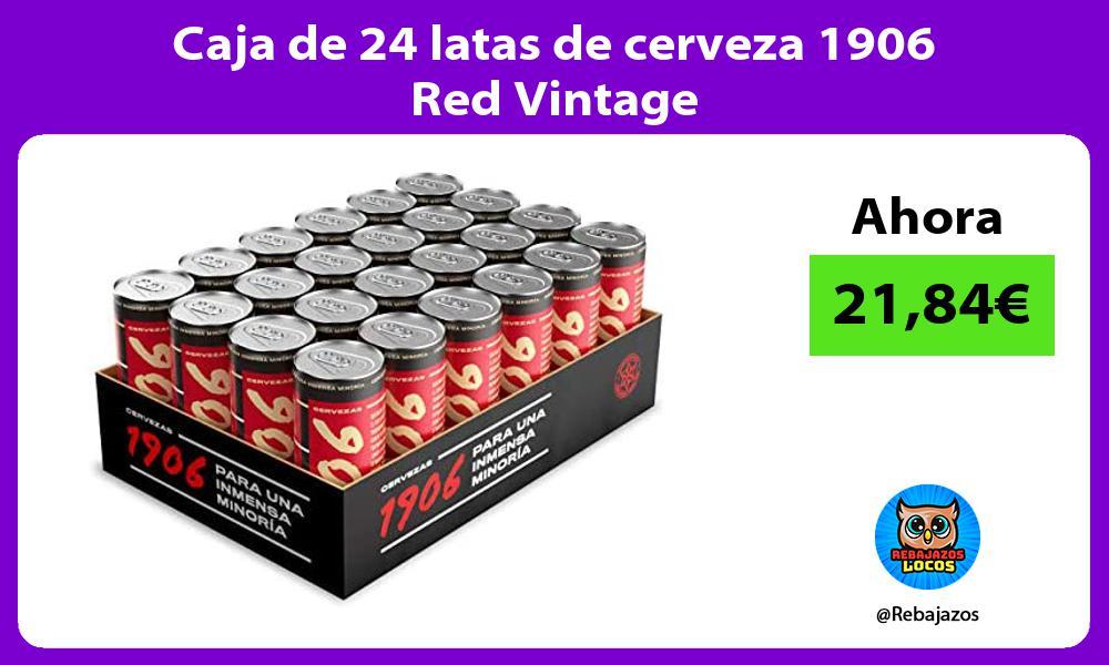 Caja de 24 latas de cerveza 1906 Red Vintage