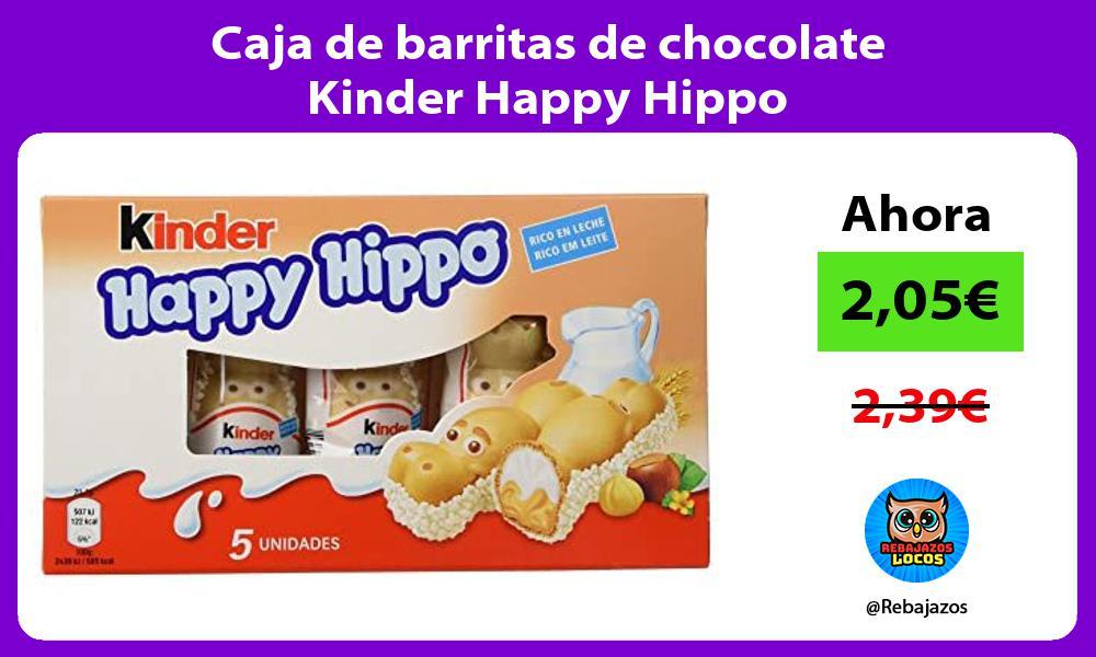 Caja de barritas de chocolate Kinder Happy Hippo