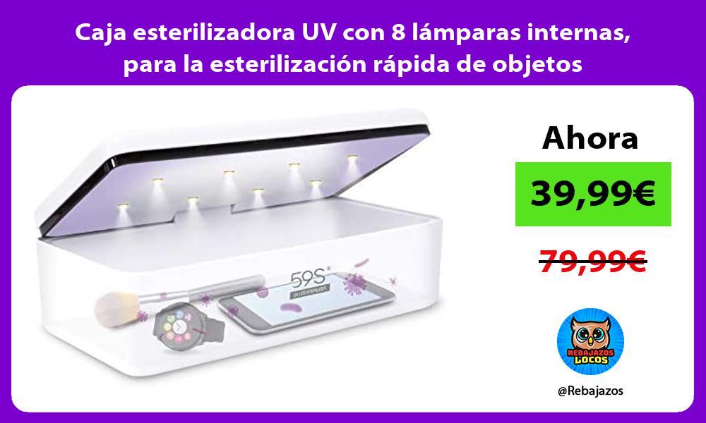 Caja esterilizadora UV con 8 lamparas internas para la esterilizacion rapida de objetos personales