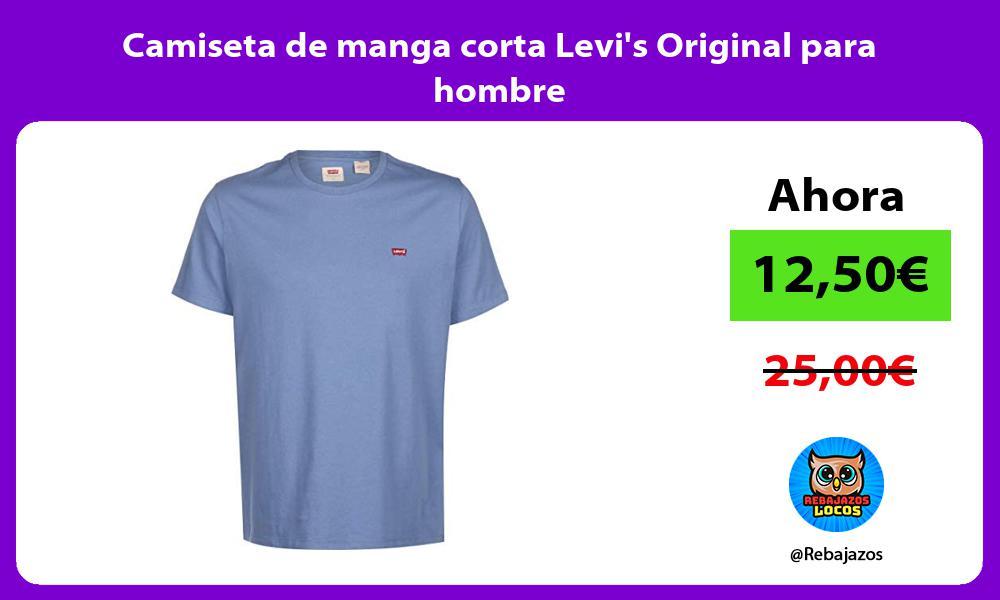 Camiseta de manga corta Levis Original para hombre
