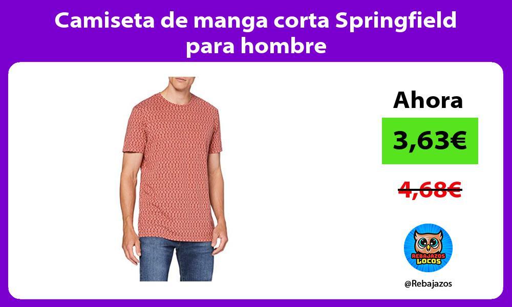 Camiseta de manga corta Springfield para hombre