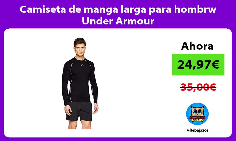 Camiseta de manga larga para hombrw Under Armour