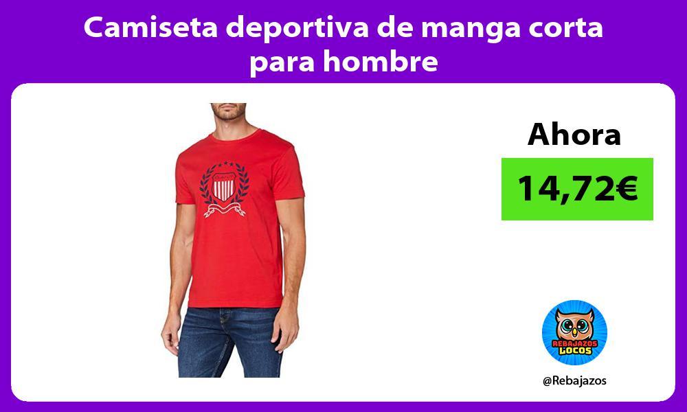 Camiseta deportiva de manga corta para hombre
