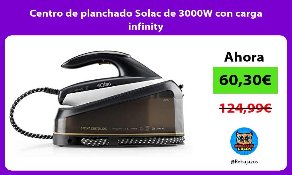 Centro de planchado Solac de 3000W con carga infinity