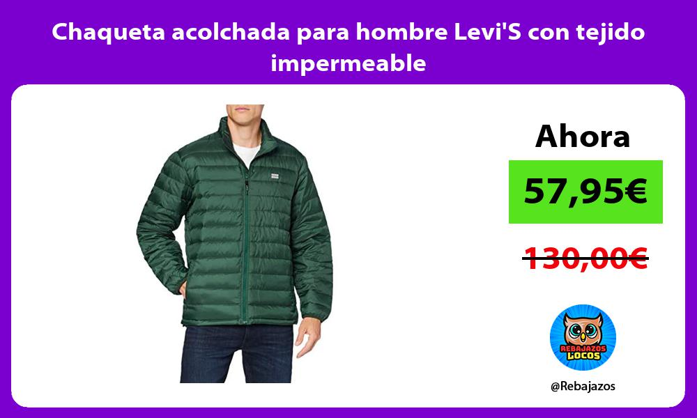 Chaqueta acolchada para hombre LeviS con tejido impermeable