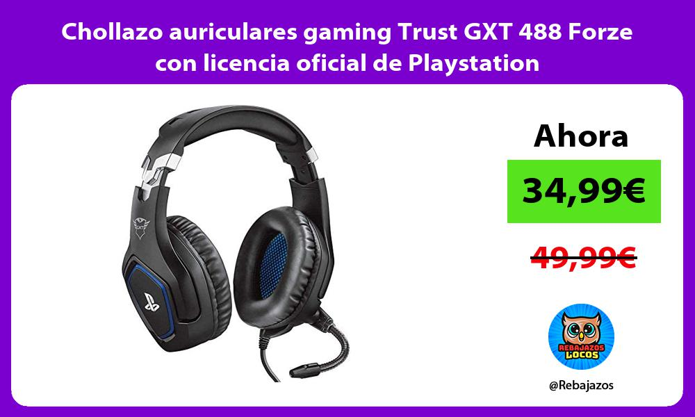Chollazo auriculares gaming Trust GXT 488 Forze con licencia oficial de Playstation