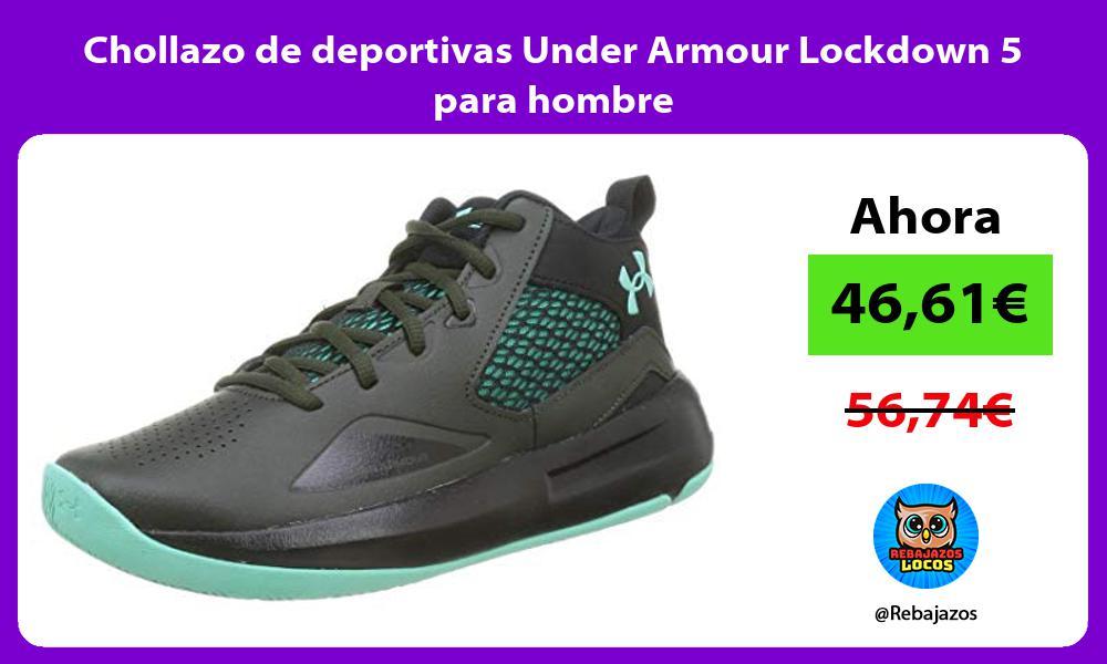 Chollazo de deportivas Under Armour Lockdown 5 para hombre