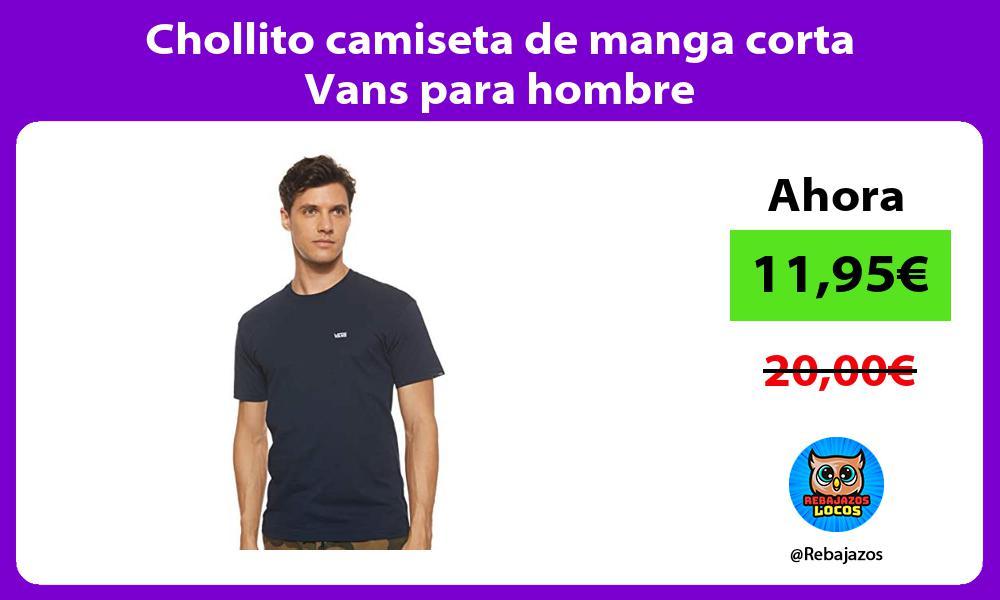 Chollito camiseta de manga corta Vans para hombre