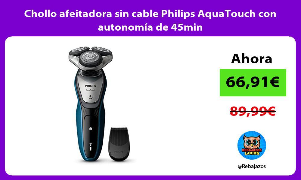 Chollo afeitadora sin cable Philips AquaTouch con autonomia de 45min